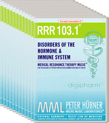 Peter Hübner - Medical Resonance Therapy Music(R) RRR 103 Disorders of the Hormone & Immune System • No. 1-12
