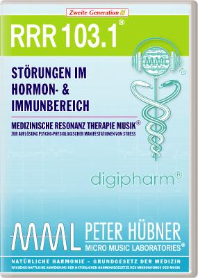 Peter Hübner - Medizinische Resonanz Therapie Musik(R) RRR 103 Störungen im Hormon- & Immunsystem • Nr.1