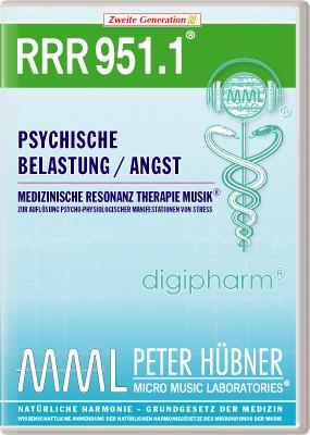 Peter Hübner - Medizinische Resonanz Therapie Musik(R) RRR 951 Psychische Belastung / Angst • Nr.1